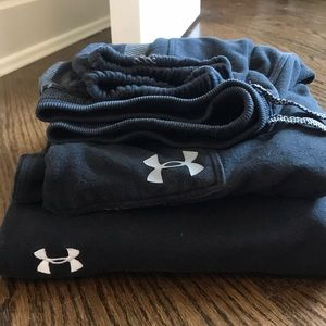 Set of two black Boys Under Armour sweatpants